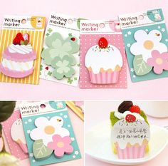 4 Style for choose New Cute Korean sticky notes, memo pads for DIY scrapbook decoration, bookmark, paper working, wedding party deco on Etsy, $2.25 CAD