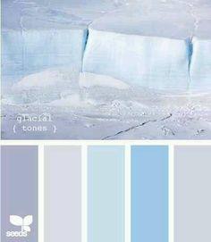 cool color palette | cool glacier tones color palette