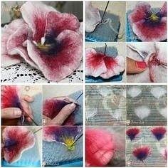 Security Check Required - Her Crochet Handmade Felt, Felt Diy, Handmade Flowers, Felt Crafts, Felt Roses, Felt Flowers, Fabric Flowers, Wet Felting, Needle Felting