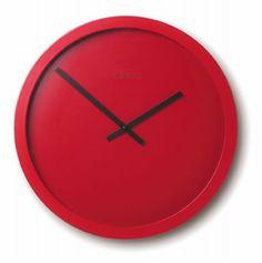 $123 Nextime Color & Design Clocks Color & Design Wall Clock Red