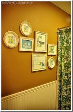 Word Wall for the bathroom