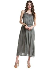French Connection 'Mine & Yours' London Grey Crushed Maxi Dress