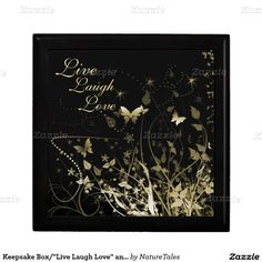 """Keepsake Box/""""Live Laugh Love"""" and Butterflies Gift Boxes"""