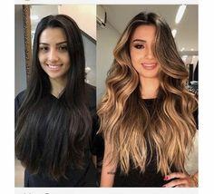 Blonde Highlights On Dark Hair Short, Short Hair Styles, Beauty, Bob Styles, Short Hair Cuts, Short Hairstyles, Beauty Illustration, Short Hair Dos, Short Hairstyle