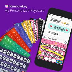 Customize your own keyboard with your favorite pictures!✌️ Download #Rainbowkey For Free: