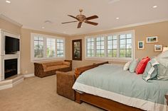 This master suite is the perfect place to relax after a fun day at the beach