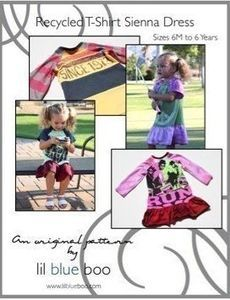 Recycled T-Shirt Sienna Dress pattern (sizes 6M to 6 Years) -- One of my all time favorite patterns for knits! It makes creating clothes fun.