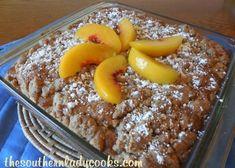 Peach Crumb Cake- Wonderful with coffee or as a dessert!