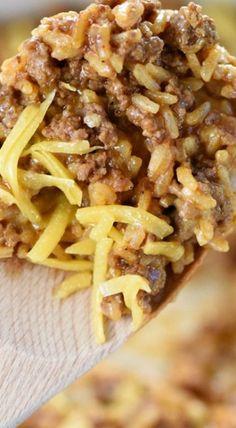 One-Pan Cheesy Beef Taco Skillet (Homemade Hamburger Helper)
