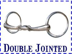 Three-Piece Snaffle Mouthpieces, also called double jointed bits, create more of a U shape instead of a V, making it a more gentle mouthpiece than the single jointed. This mouthpiece applies pressure to the lips, tongue, and bars of the mouth.