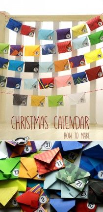 Cute Christmas advent calendar you can make. All Things Christmas, Winter Christmas, Christmas Holidays, Christmas Calendar, Diy Advent Calendar, Holiday Crafts, Holiday Fun, Mistletoe And Wine, Winter Crafts For Kids