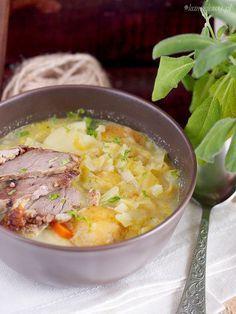 Zupa Warzywna Z Młodą Kapustą / Cabbage and Vegetable Soup Vegetable Soup Healthy, Healthy Soup, Healthy Food List, Healthy Eating, Healthy Recipes, Gout Recipes, Cooking Recipes, Recipes From Heaven, Kitchen Recipes