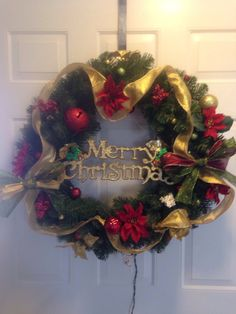 36 plug in wreath with white lights by ReagyLaneDesigns on Etsy