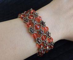 Bracciale in tessitura di perline Superduo di SognantiStelleBijoux