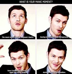 #TO #TVD The Originals,The Vampire Diaries Joseph Morgan(Klaus), I'm pretty sure I've already pinned this before..