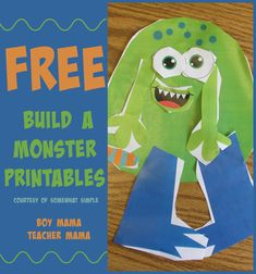 Boy Mama Teacher Mama: Printable Build a Monster Activity from Somewhat Simple