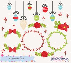 SMART GIRL BUNDLE SALE! For a limited time get smart and build your own bundle! $1 Downloads when you buy 20 until 8/7! **Bundle 20 sets for $20 with code BACKTOSCHOOL17** Get started with new arrivals --> http://etsy.me/1BJ8ZvJ ----- Set of Christmas Clipart packed with floral accents, deer, ornaments, and wreaths. { WHATS INCLUDED } - (25) individual clip art images in PNG (transparent background) JPG (white background) EPS (vector, opens with Illustrator) Vectors c...