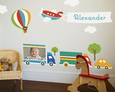 Decorate with wall decals. Show off pictures that fit to your theme.