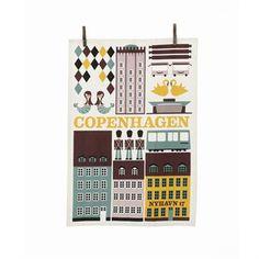 Copenhagen kökshandduk - flerfärgad - Ferm Living