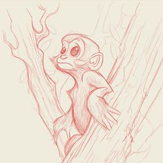 Personal project, leaf monkey character design.