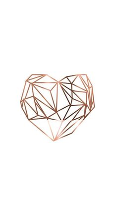 Phone & Celular Wallpaper : Wallpaper #Fondos de pantalla #Rose gold coração Imagens para customizações