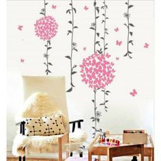 Decal Dzine Butterflies And Floral Decal