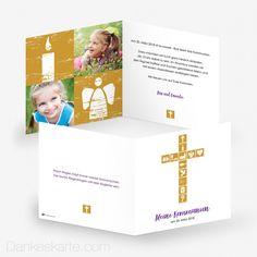 Kommunionskarte Symbolisch x cm Communion, Thanks Card, Celebration, Cards
