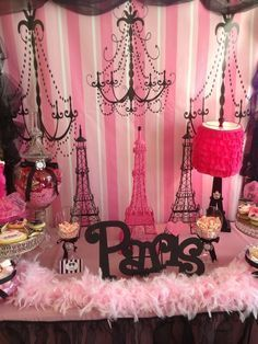 Paris Party #paris #party  A Paris-themed party would be great for a teenage girl or for an adult as well!