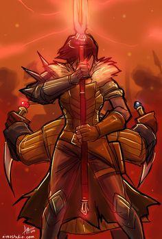 Hawke & Varric   Dragon Age