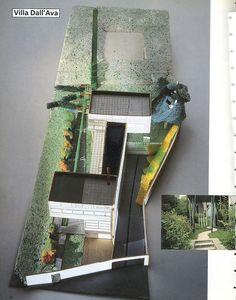 model of landscape design for Boudet House - yves_brunier_OMA