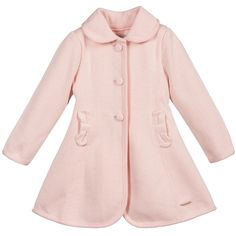 Girls Pink Cotton Knitted Coat, Mayoral, Girl