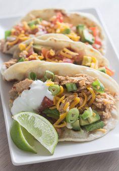 Opskrift på hjemmelavede bløde tacos med pulled turkey