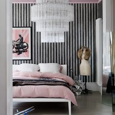 So Glam With A Little Bit Gloomy Added For Good Measure | Neutral Bedroom  With Black Feature Wall | Livingetc. | Daily Inspiration | Pinterest |  Dark, ... Part 61