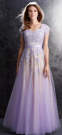 c44c5d39dd6 Dark Purple Slevess Sheer Lace Flower Prom Dresses New Style Fashion  Evening Gowns For Teens Girls