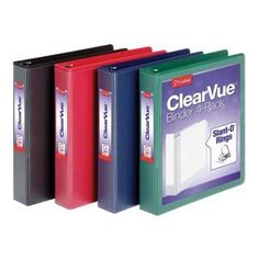 Cardinal D-Ring Presentation View Binders Binder Holds 375 Sheets Nonstick PVC-Free Assorted Black Red Blue Green 4 Pack Presentation Binders, College Reviews, Back To School Gifts, 3 Ring Binders, Red Blue Green, Office And School Supplies, Interactive Notebooks, 5 D, Best Quotes