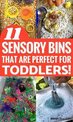 Sensory Activities for Toddlers: 11 sensory bins that are perfect for toddlers to explore