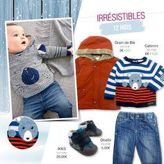 Comme un ourson dans la neige 🐻 ❄️ #Manteau douillet, #pull rayé façon Gaultier et #jean confortable, dénichez la perle rare pour vos #enfants jusqu'à -95% du prix boutique sur too-short.com !