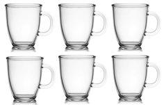 6 Kaffeebecher Glas 400ml Glühweinbecher Teetasse Teebecher in Möbel & Wohnen, Kochen & Genießen, Gedeckter Tisch | eBay