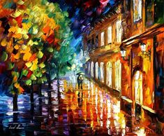 Rain Of Love by Afremov...Simply and amazingly beautiful!  I want, no I NEED, a print!!