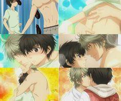 Okay,vamu la. Dark Anime Guys, Anime Love, Love Stage, Mundo Comic, Handsome Anime Guys, Shounen Ai, Cute Anime Couples, Cartoon Fan, Anime Ships
