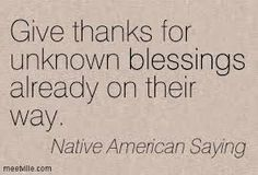 I think that we always be grateful and trust that there is a plan for us, a plan including struggles at times but also beautiful blessings http://traditionalnativehealing.com