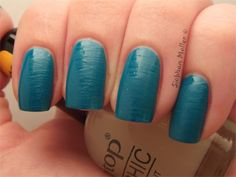 """Untried polish challenge 9: Cheapest (Tip Top Matte-nificent matte top coat fanned over Essence Let's get Lost"""")"""