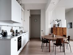 The Nordroom - A Scandinavian Apartment With Floor To Ceiling Windows Kitchen Interior, Home N Decor, Floor To Ceiling Windows, Scandinavian Apartment, Scandinavian Furniture Design, Living Room Furniture Sofas, Furniture Stores Nyc, Modern Apartment, Cheap Flooring