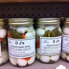 pickled quail eggs. iiintereesting!