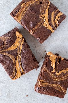 Healthy Brownies, Peanut Butter Brownies, Healthy Lifestyle Motivation, Healthy Snacks, Good Food, Food Porn, Food And Drink, Favorite Recipes, Sweets