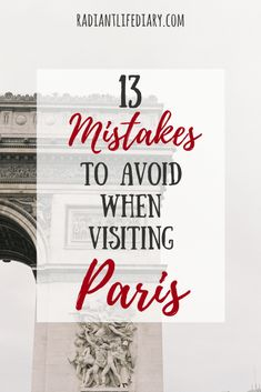 Are you planning on visiting Paris soon? If that's the case, today is your lucky day because you are about to get serious kick-ass tips from an authentic Parisian girl! Discover 13 mistakes to avoid and practical tips for a stress-free trip to Paris.