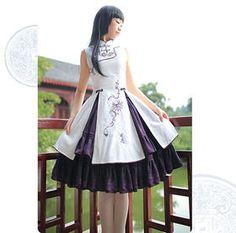 「和ロリ」に続くは中華ロリ!チャイナドレスイメージのロリィタファッション「Qi Lolita」 - NAVER まとめ Tokyo Fashion, Harajuku Fashion, Lolita Fashion, Lolita Goth, Lolita Dress, Mandarin Dress, Cheongsam Dress, Anime Costumes, Chinese Clothing