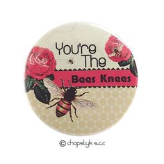 Items similar to 3 inch Pocket Mirror: You're The Bees Knees on Etsy Bee Gifts, Counter Display, Bees Knees, Soft Furnishings, I Shop, Magnets, Graphic Design, Mirror, Abstract