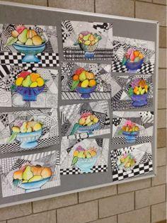 Art at Becker Middle School: Project updates- Zentangle Still Life