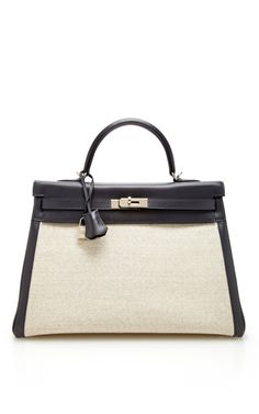 Vintage Hermès 35cm swift leather and toile Retourne Kelly by Heritage Auctions Special Collections